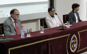 Jerónimo Leal, Adela López, Vice direttrice Accademica, e Bárbara Díaz Kayel Direttrice dell'Istituto de Historia